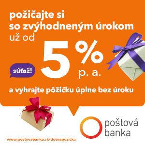 Poštová banka - pôžička