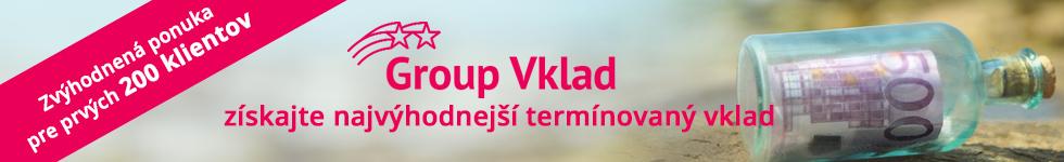 Group Vklad - najvýhodnejší termínovaný vklad