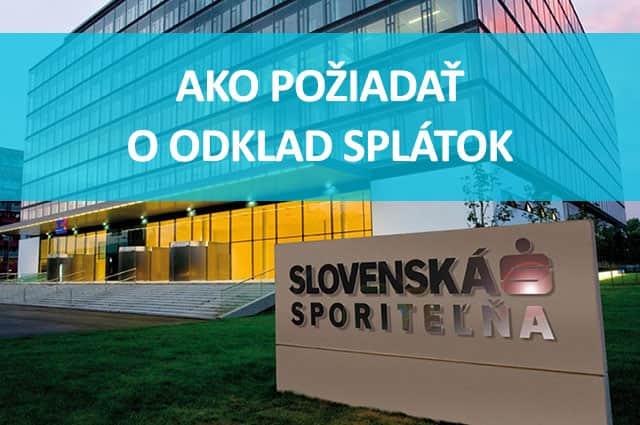 Návod ako požiadať o odklad splátok v Slovenskej Sporiteľni